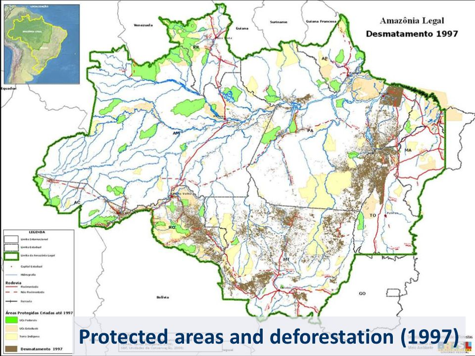 Protected areas and deforestation (1997)
