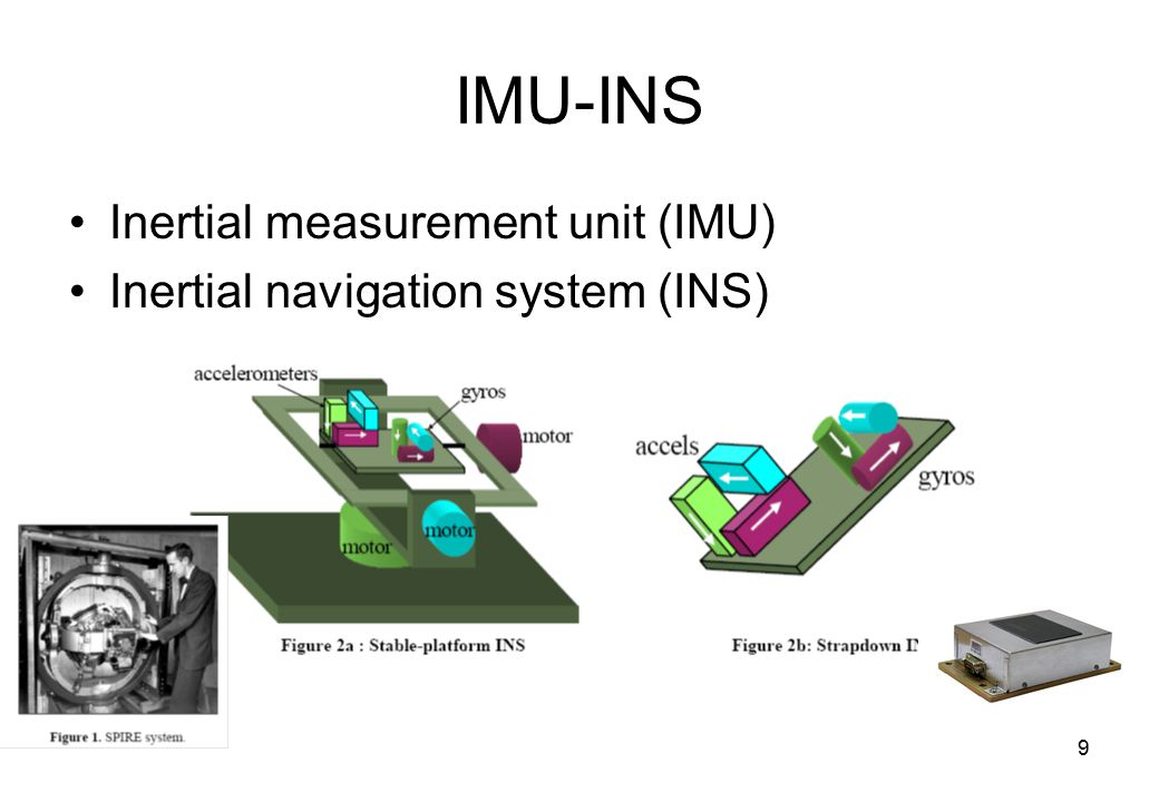 9 IMU-INS Inertial measurement unit (IMU) Inertial navigation system (INS)