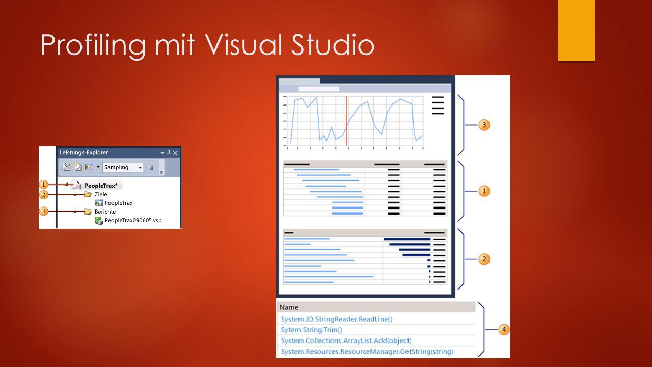 Profiling mit Visual Studio