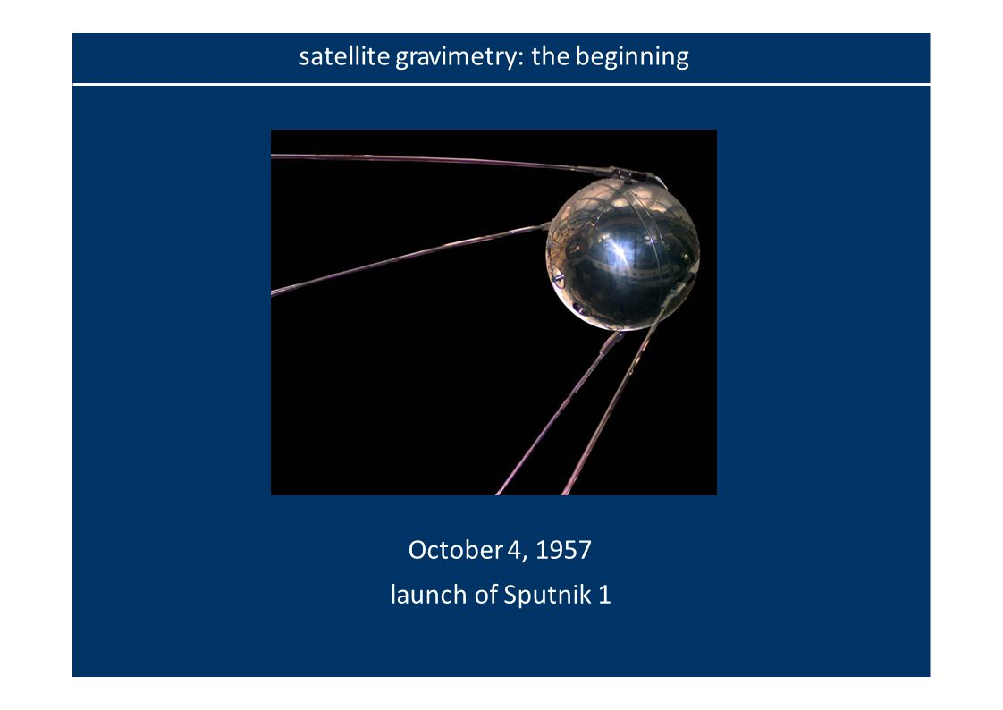 October 4, 1957 launch of Sputnik 1 satellite gravimetry: the beginning