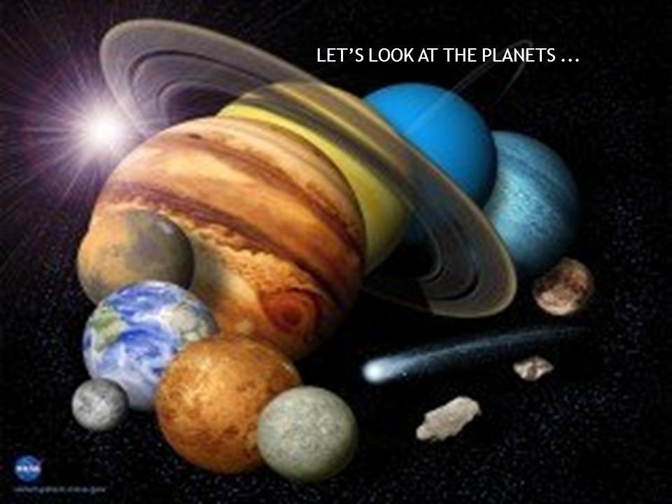LET'S LOOK AT THE PLANETS...