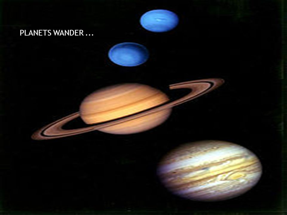PLANETS WANDER...