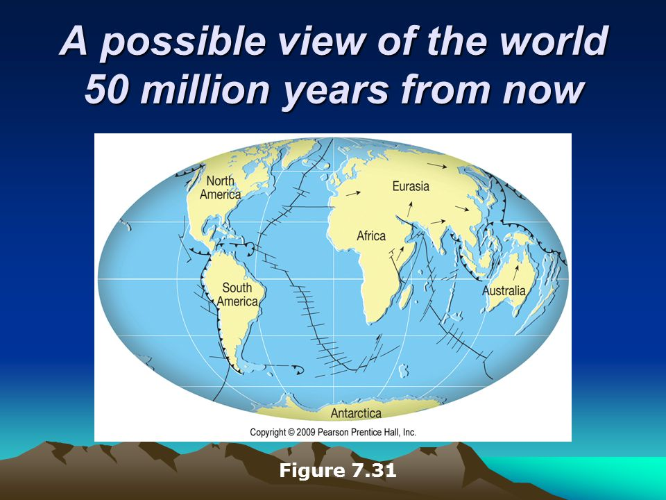 A possible view of the world 50 million years from now Figure 7.31
