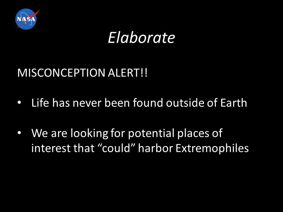 Elaborate MISCONCEPTION ALERT!.