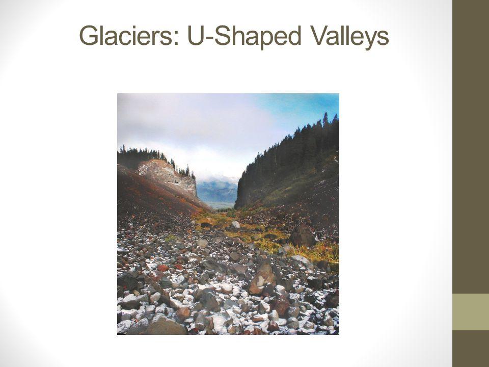Glaciers: U-Shaped Valleys