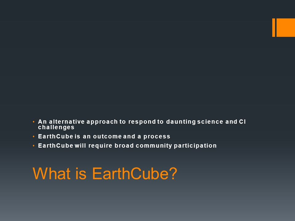 What is EarthCube.