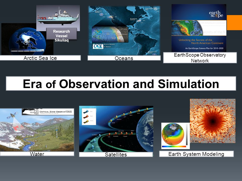 Arctic Sea Ice Research Vessel Sikuliaq Oceans Water Satellites Earth System Modeling Era of Observation and Simulation EarthScope Observatory Network