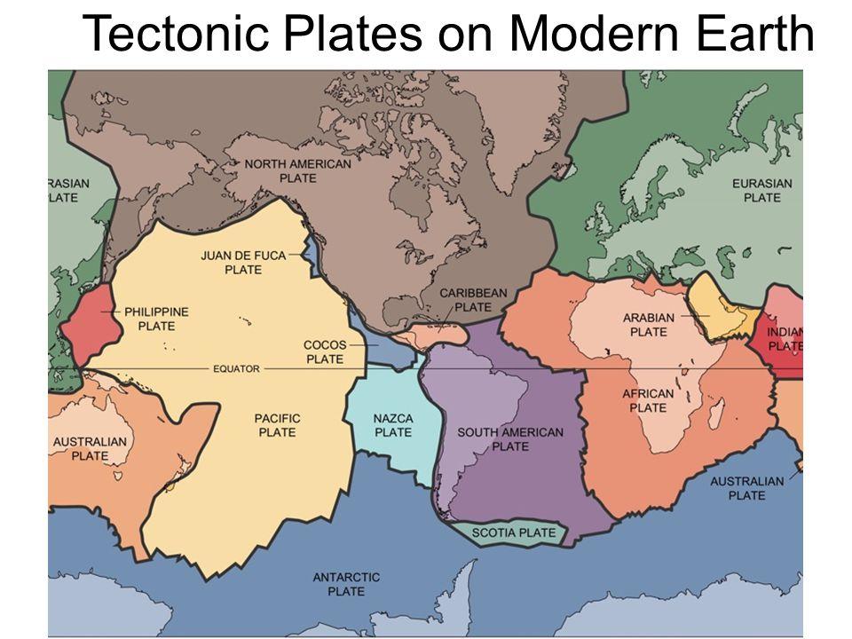 Tectonic Plates on Modern Earth