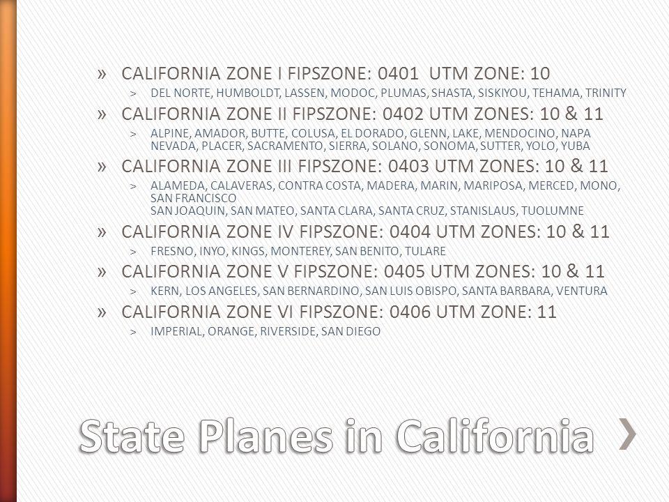 » CALIFORNIA ZONE I FIPSZONE: 0401 UTM ZONE: 10 ˃DEL NORTE, HUMBOLDT, LASSEN, MODOC, PLUMAS, SHASTA, SISKIYOU, TEHAMA, TRINITY » CALIFORNIA ZONE II FI