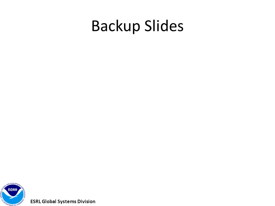 ESRL Global Systems Division Backup Slides