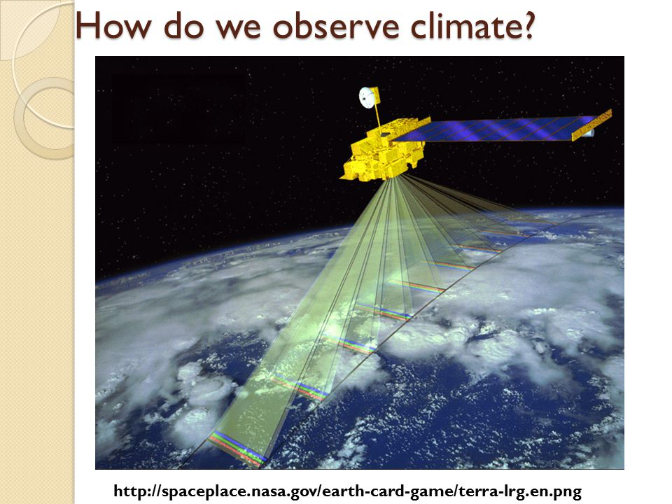 http://spaceplace.nasa.gov/earth-card-game/terra-lrg.en.png How do we observe climate?