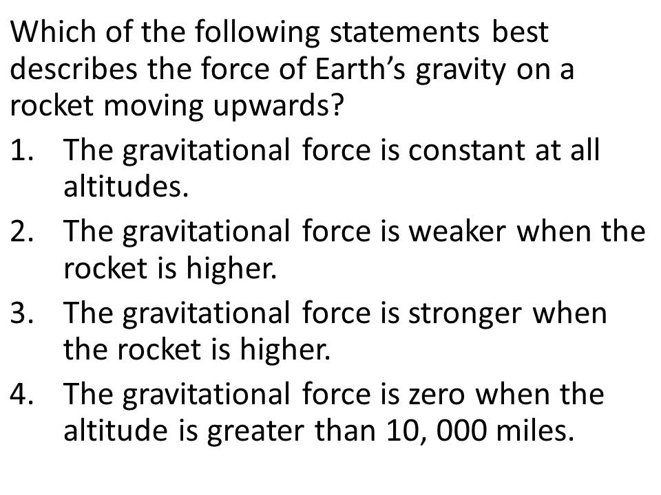 Which of the following statements describes a result of Earth's gravitational force on the moon.
