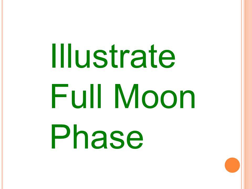 Illustrate Full Moon Phase
