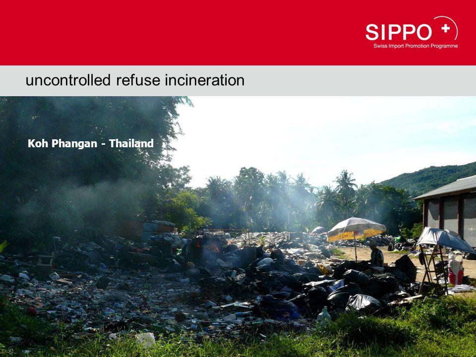 Koh Phangan - Thailand uncontrolled refuse incineration