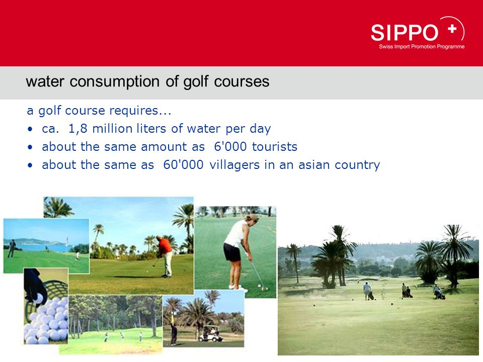 water consumption of golf courses a golf course requires...