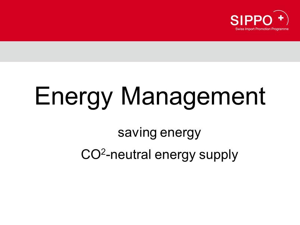 Energy Management saving energy CO 2 -neutral energy supply