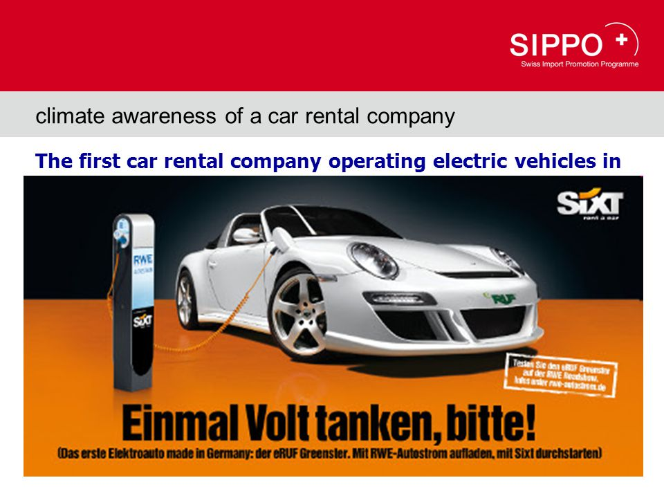 The first car rental company operating electric vehicles in Denmark (and soon in Germany) climate awareness of a car rental company