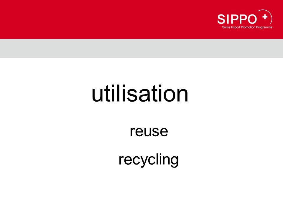 utilisation reuse recycling