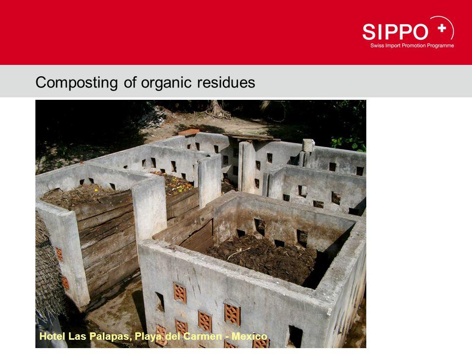 Composting of organic residues Hotel Las Palapas, Playa del Carmen - Mexico