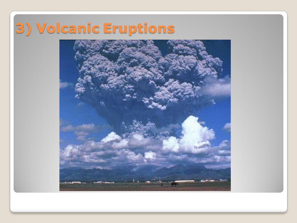 3) Volcanic Eruptions