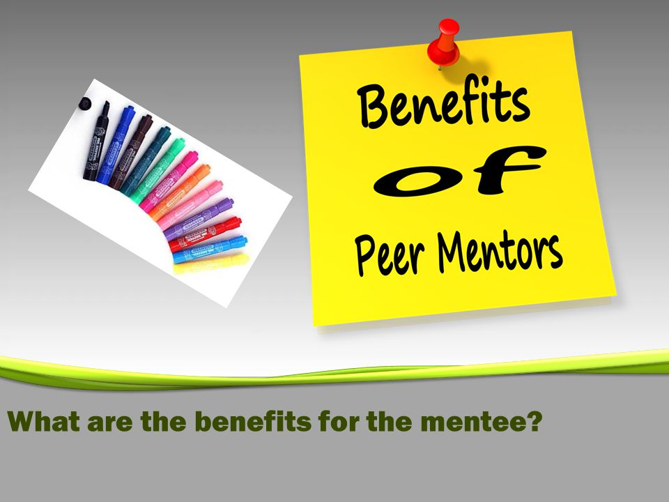 What are the benefits for the mentee