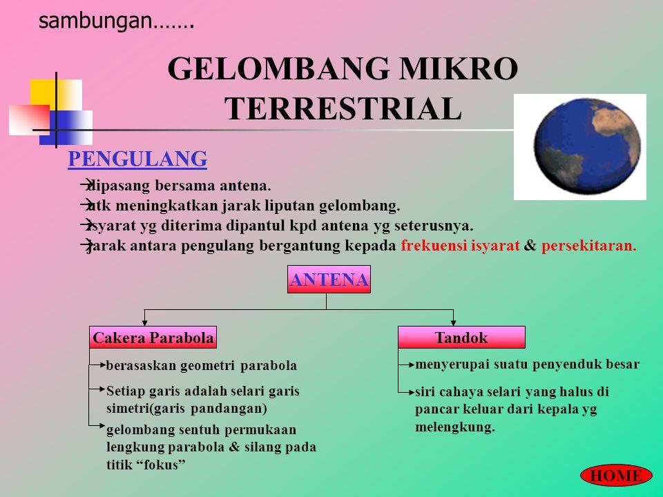 GELOMBANG MIKRO TERRESTRIAL sambungan…….PENGULANG  dipasang bersama antena.