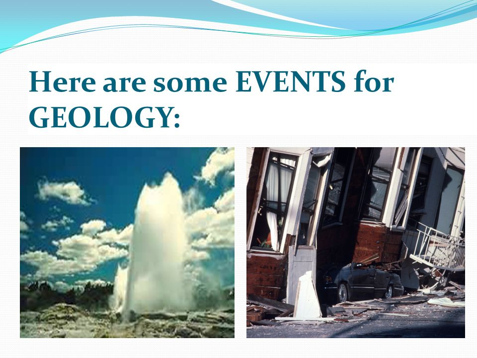 Here are some EVENTS for GEOLOGY: