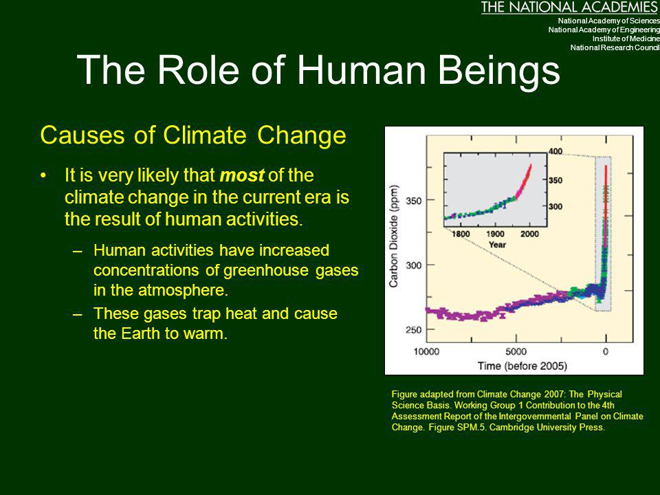 The Role of Human Beings Causes of Climate Change It is very likely that most of the climate change in the current era is the result of human activiti