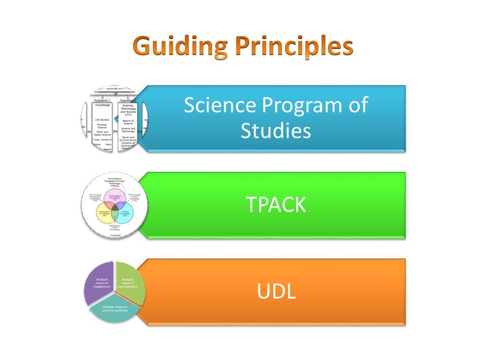 Science Program of Studies TPACK UDL
