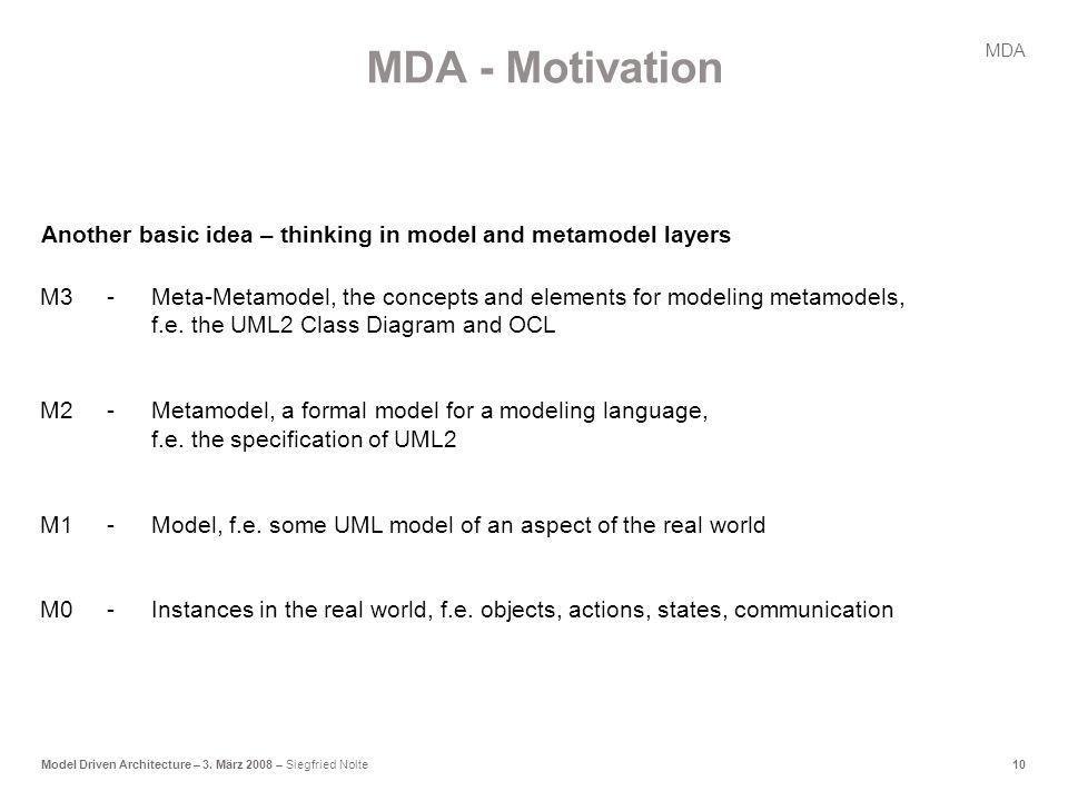 10Model Driven Architecture – 3.