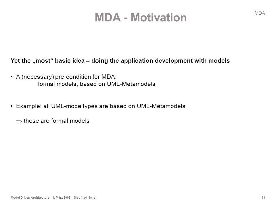 11Model Driven Architecture – 3.