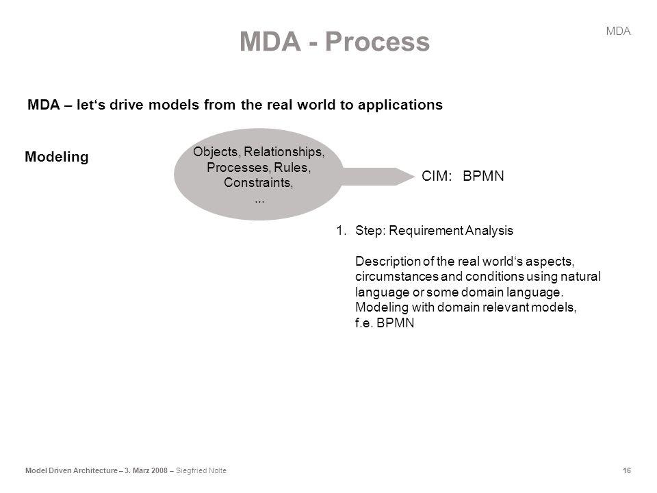 16Model Driven Architecture – 3.