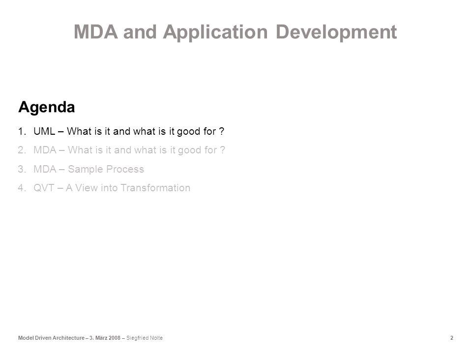 2Model Driven Architecture – 3.