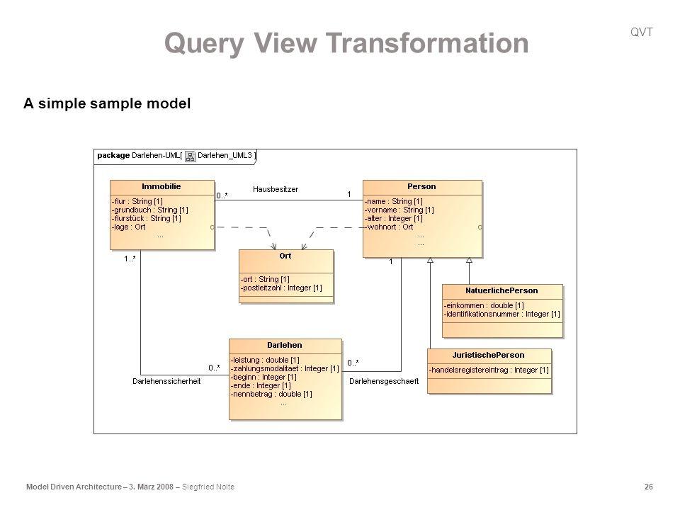 26Model Driven Architecture – 3.