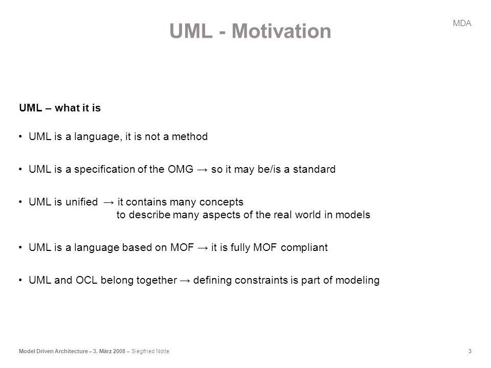 3Model Driven Architecture – 3.