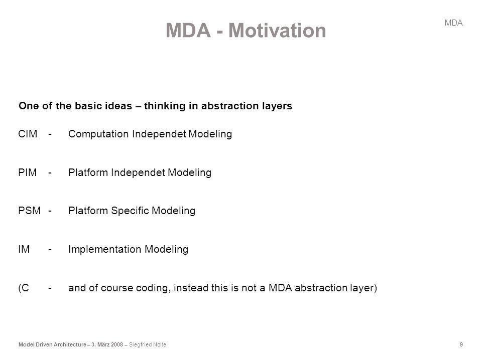 9Model Driven Architecture – 3.
