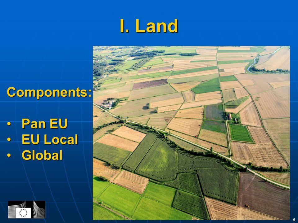I. Land 6 Components: Pan EUPan EU EU LocalEU Local GlobalGlobal