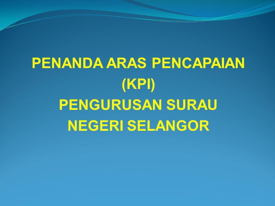 PENANDA ARAS PENCAPAIAN (KPI) PENGURUSAN SURAU NEGERI SELANGOR