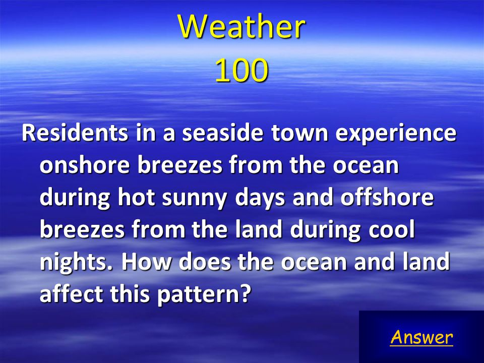 Which most likely contributes to the rotational pattern of a hurricane that develops in the Atlantic ocean.