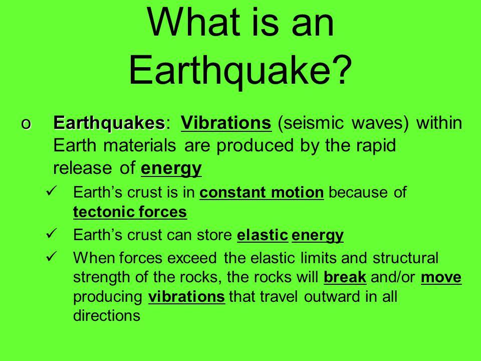 How Earthquakes work Investigating Earthquakes--San Francisco