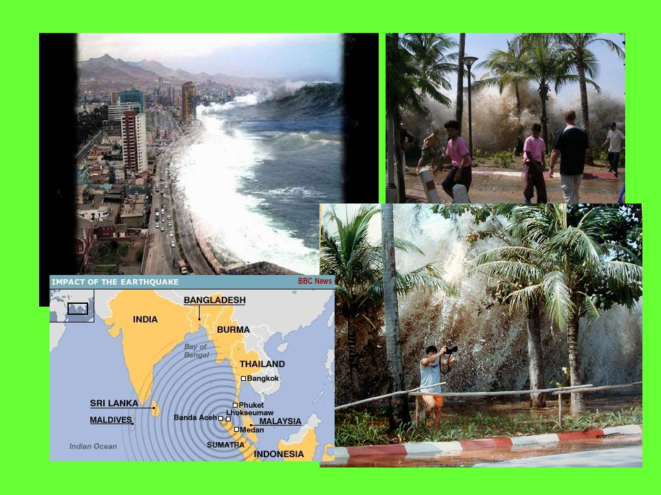 Earthquake Dangers oMost injuries and deaths are caused by falling objects and most property damage results from fires that start Tsunami Tsunami: sei