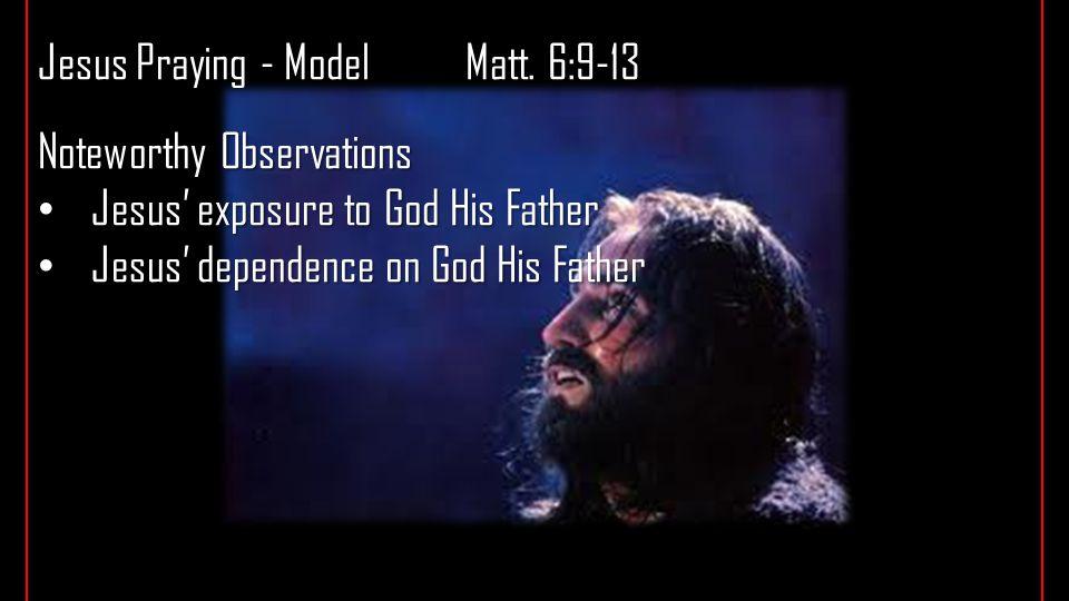 Jesus Praying - ModelMatt.