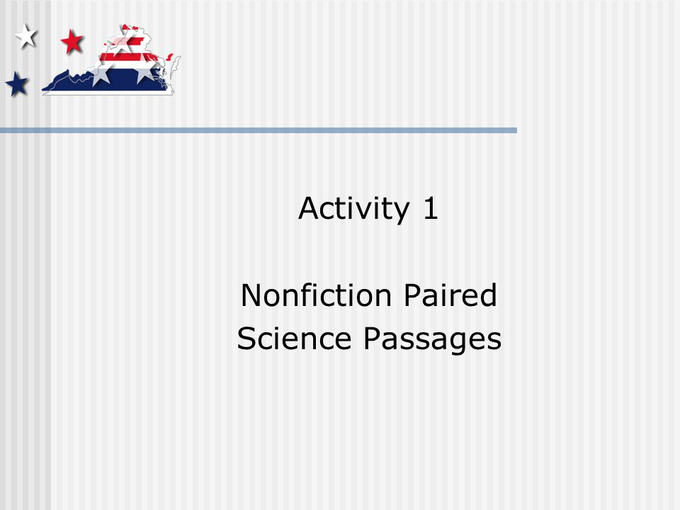 Activity 1 Nonfiction Paired Science Passages