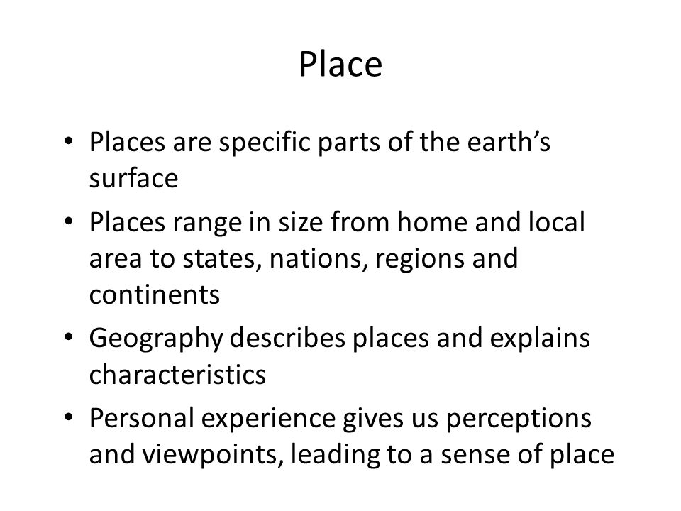 Space Geographic space is the 3D surface of the earth Geographers look at patterns over the earth's surface (geographic space) Geography recognises that people use space differently and that patterns change over time