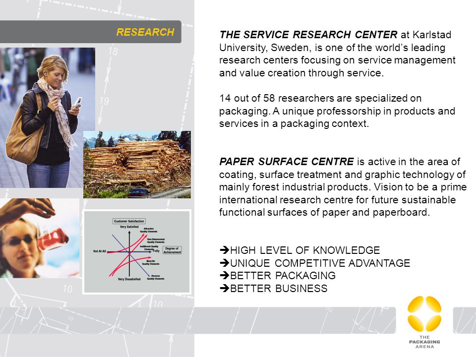 RESEARCH THE SERVICE RESEARCH CENTER at Karlstad University, Sweden, is one of the world's leading research centers focusing on service management and