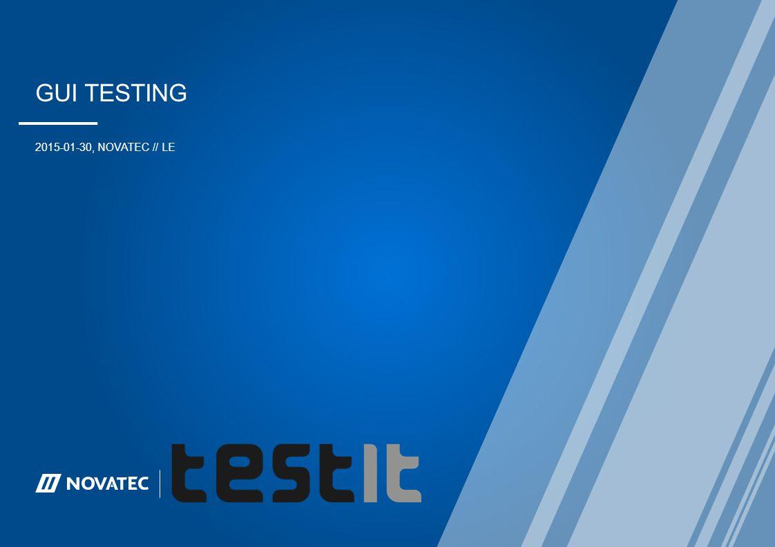 Scenario: Login 30.01.2015Web-UI Testing mit testIT - WebTester12 Hello testuser.