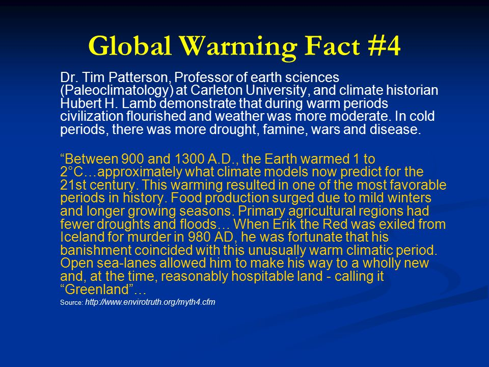 Global Warming Fact #4 Dr.