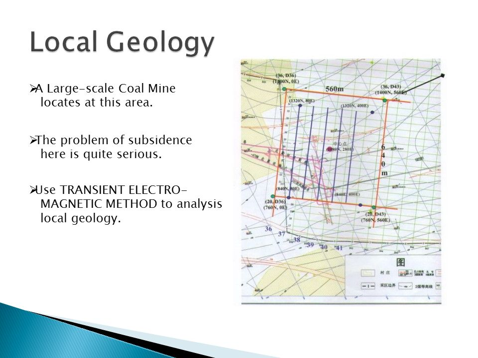  A Large-scale Coal Mine locates at this area.  The problem of subsidence here is quite serious.