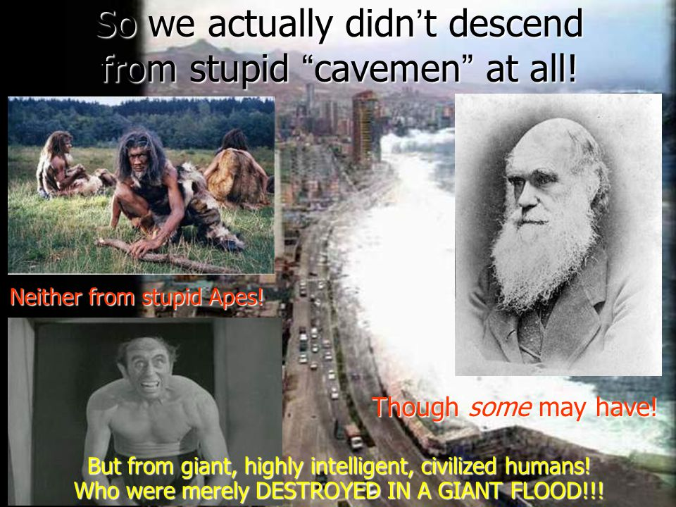 So we actually didn ' t descend from stupid cavemen at all.