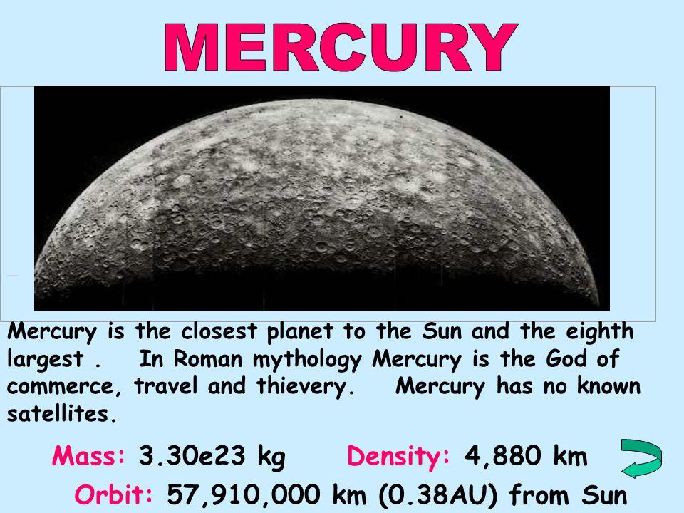 8.NeptuneNeptune Mercury 4.MarsMars 9.PlutoPluto 6.SaturnSaturn 5.